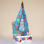 blue tree from paper box